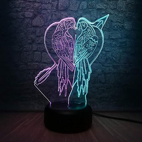 Neuheit Tier 3D LED Lampe RGB Glühbirne Schlafzimmer Nachtlicht Mix Farbe verblassen Kinder Spielzeug Touch Table Decor q250