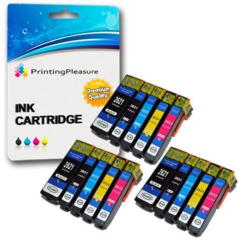 15 Compatibles 26XL Cartuchos de Tinta para Epson Expression Premium XP-510 XP-520 XP-600 XP-605 XP-610 XP-615 XP-620 XP-625 XP-700 XP-710 XP-720 XP-800 XP-810 XP-820 - Alta Capacidad