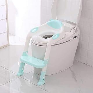 Potty Training Seat Folding Baby Kid Potty Infant Toilet Training Seat with Adjustable Ladder Portable Urinal Potty Traini...