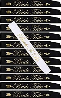 13 Pack sash Set:1 Bride to be sash,12 Sashes Bride Tribe,Team Bride sash Set for Bridesmaids,Maid of Honor,Bridal Shower and Hen Party Decorations, Favors, Gifts,Accessories,Supplies
