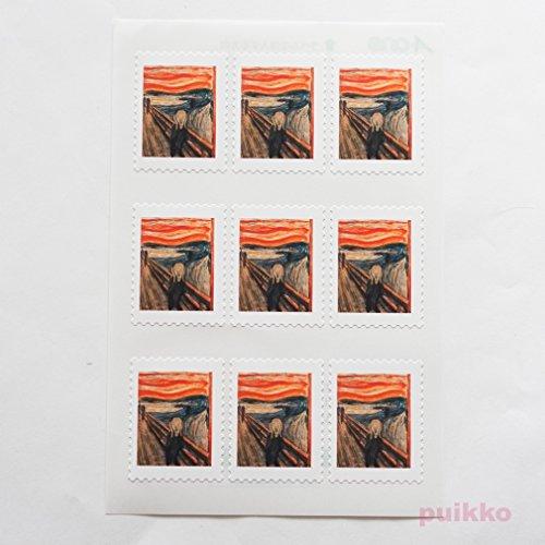 切手型シール ムンク「叫び」