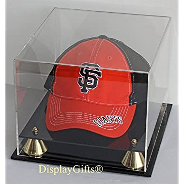 Baseball Cap Hat Display Case Stand, UV Protection, (No Mirror, clear Back)