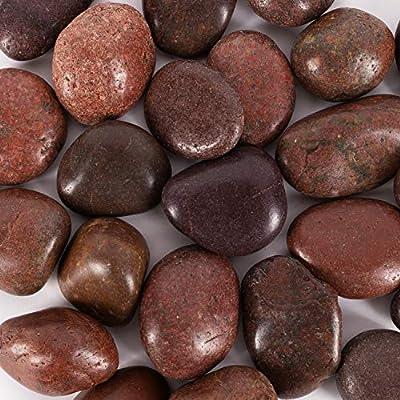 Galashield River Rocks Pebbles for Plants Natural Decorative Polished Stones for Planters Succulent Rocks Aquarium Gravel (5 lb Bag)