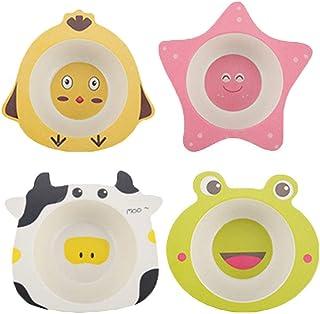 UPKOCH 4pcs Wooden Spoon Cute Cartoon Animals Spoons for Children Baby