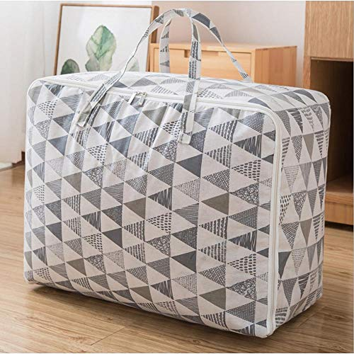 N / C Storage Bag Household Quilt Christmas Home Moving Artifact Cotton Linen Decoration 60x40x24cm(23.62x15.75x9.45in)