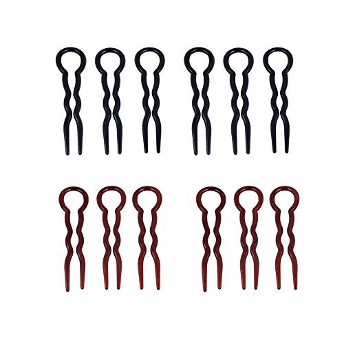 yueton Pack of 12 Office Lady Style Magic Simple Fast Spiral Hair Braid Twist Styling Tool Clip Pin Brand change to:yueton