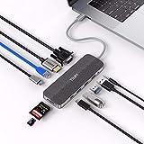 TSUPY Hub USB C con 2xUSB C 11 en 1 Tipo C Ethernet Hub, Adaptador C Hub con 4K HDMI,1080P,3 Puertos USB,SD/Micro SD Lector Tarjeta,3.5mm Audio para Otros Ordenadores y Tabletas/móvil de Tipo C