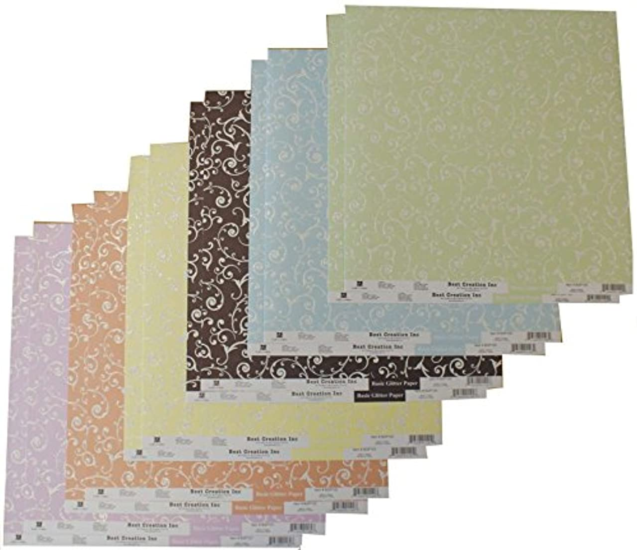 Best Creation 12 x 12-Inch Swirl Glitter Cardstock