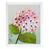 Kit de Inicio de Bordado de Bricolaje con patrón de Flores de Plantas Hilos de Color de aro de bambú