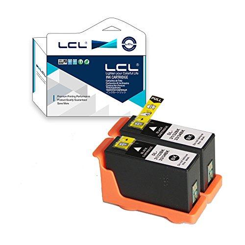 LCL Cartucho de Tinta Compatible Series 31 32 33 34 V525w V725w High Yield (2 Negro) Reemplazo para DELL V525w DELL V725w