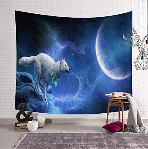 Lune Tapis De Yoga Couverture Murale Tapisserie Décor De Chambre Tapis De Couchage Grande Tenture Murale Tapisserie 150X200Cm Mandala Galaxy Tapisserie