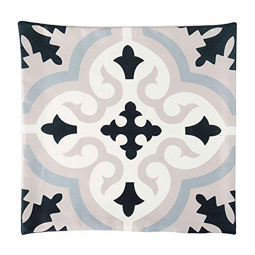 Ostaria Housse de Coussin carré Motif Baroque, Polyester, Taupe, 40 x 40 x 3 cm