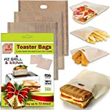 Grilled Cheese Toaster Bags Set of 3 - Non-stick Reusable Grill Cheese Tosta Bag - Toasted Sandwich...