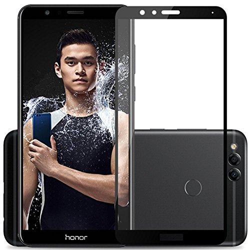 [2 Pack] Für Huawei Honor 7X Panzerglas Schutzfolie (Schwarz), Displayschutzglas Panzerfolie für Huawei Honor 7X Schutzglas Folie [Ultra-klar] [9H Härte] [Kristallklar] [Bubble Free]