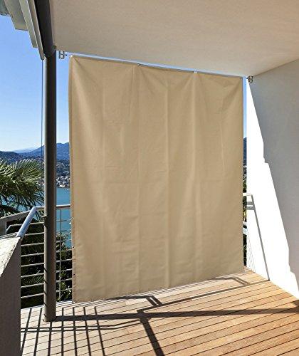 CV Vertikaler Sonnenschutz Windschutz Sichtschutz Balkon Terrasse Creme 230 x 140 cm