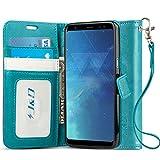 J&D Compatible para Galaxy S8 Plus Funda, [Protección de Cartera] [Soporte Plegable] Funda Pesada Resistentes Billetera para Samsung Galaxy S8 Plus Funda Cuero - Turquesa