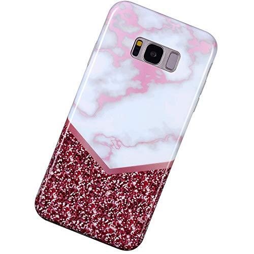 Urhause Kompatibel mit Samsung Galaxy S8,Mode Kreativität Ultra Slim Marble Pattern Weiche Silikon Handyhülle TPU Handytasche Kratzfest Flexible Schutzhülle Soft Back Cover,Farbabstimmung