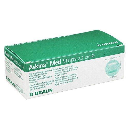 Askina Med Strips Erste-Hilfe-Pflaster runde Form Ø 2,2 cm
