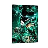 DRAGON VINES Anime My Hero Academia Deku Midoriya Izuku Anger Impression sur toile pour chambre à coucher, salon, décoration murale 60 x 90 cm