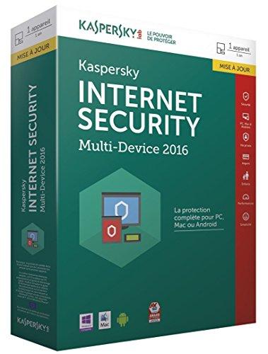 Kaspersky internet security 2016 (1 poste, 1 an) - mise à jour