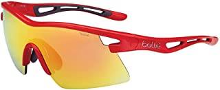 Bolle Vortex Sunglasses, Red Frame, Fire Lens