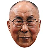 14th Dalai Lama (Glasses) Celebrity Mask, Flat Card Face, Fancy Dress Mask