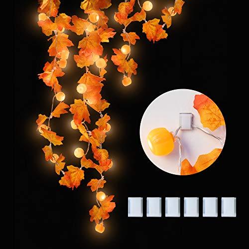 KPCB Ahornblätter Lichterketten,20 LED Herbst-Ahornblatt-Girlande Lichtern 3AA batteriebetrieben Herbst Blättergirlande Dekoration Lichter für Party,Erntedankfest,Weihnachtsbeleuchtung