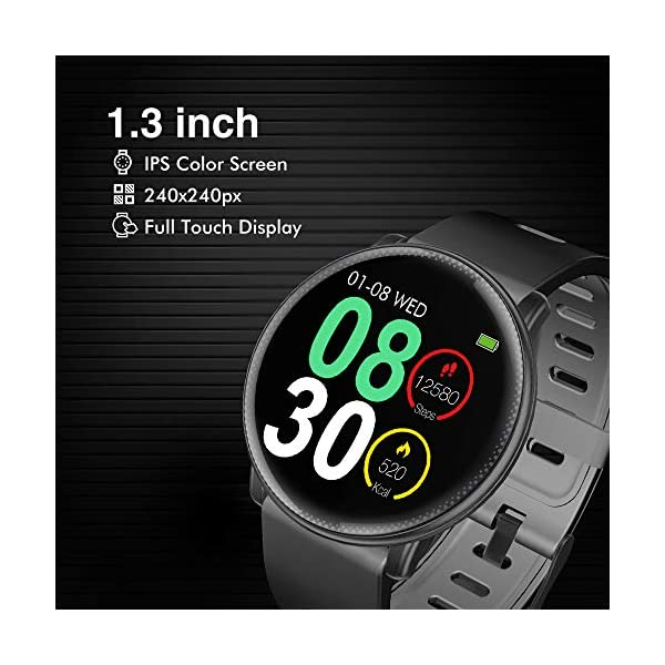 Fashion Shopping Smart Watch, UMIDIGI Uwatch2 Bluetooth Smartwatch for Men Women Kids Compatible Android