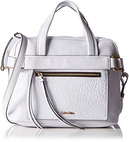Calvin Klein Jeans Damen Cecile Satchel Tasche, Weiß (White 101 101), 32x24x21 cm (B x H x T)