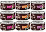 Organix Grain Free Canned Cat Food Pate 3 Flavor Variety Bundle: 3 Organic Turkey Pate Recipe, 3 Organic Chicken Pate Recipe, 3 Organic Chicken-Liver Pate Recipe, 3Oz Each 9 Cans Total