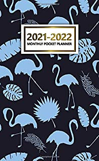 2021-2022 Monthly Pocket Planner: Cool Flamingo Silhouette Two Year Calendar, Agenda, Diary | 2021-2022 Monthly Pocket Pla...