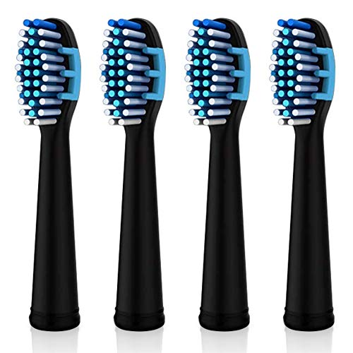 DENTAL DUTY Replacement Toothbrush Heads For Electronic Toothbrush - 4 Replaceable Electric Toothbrushes heads - For Dental Duty Sonic Toothbrush (Medium) - Nylon Bristles for Total Clean