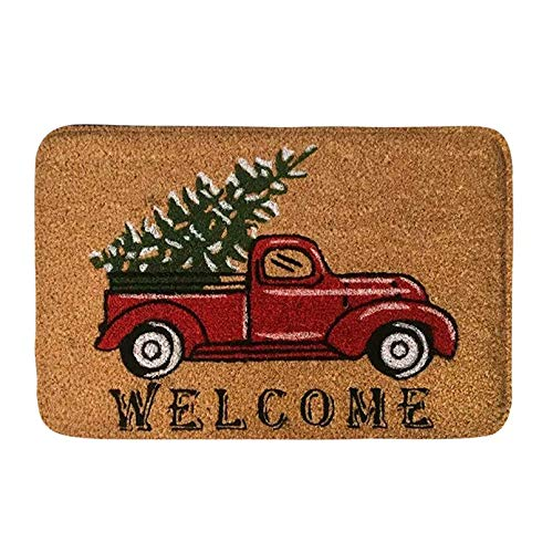 RQJOPE Alfombrilla para camión, Suave, Antideslizante, Absorbente, Entrada, Alfombra para Puerta, Feliz Navidad, Bienvenida, Alfombrillas Delanteras, alfombras Decorativas para el hogar-60x90cm