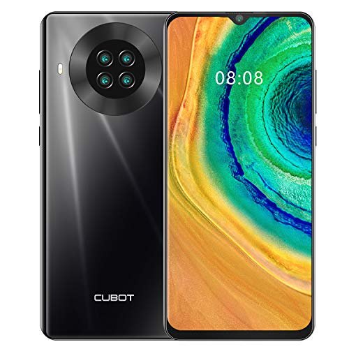 CUBOT Note 20 Smartphone 4G teléfono móvil Libre Android 10 6,5 Pulgadas 64GB ROM 4200mAh Dual Cámara Dectilar de Huellas/Face ID GPS WiFi Dual SIM, Negro