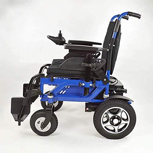 FTFTO Inicio Accesorios Ancianos Silla de Ruedas Plegable Ligero Aleación de Aluminio Portátil Anciano Adulto Eléctrico Anciano/Discapacitado
