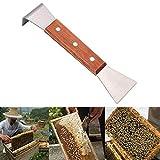 Bienenzucht Werkzeug, J Form J-Typ Gebogene Schwanz Biene Hive Haken Schaber Werkzeug Bienenstock Abstreicher Imkerausrüstung aus Edelstahl für Imker, Langlebig und Robust, Länge 20cm