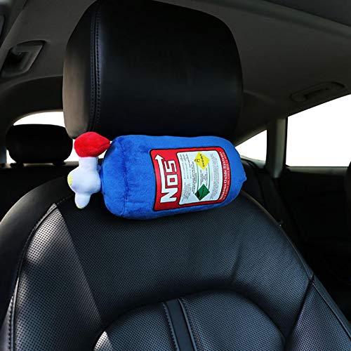 Red-eye NOS Car Seat Headrest, Plush Neck Pillow Cushion Car Decoration, Simulation Fire Extinguisher Pillow, Car Modified Pillow