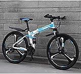 YIHGJJYP Bicicleta De Montaña Las Bicicletas Plegable 26 Pulgadas 21 velocidades Suspensión Doble Freno Disco Completo Antideslizante Ligero Marco Tenedor,Set-6