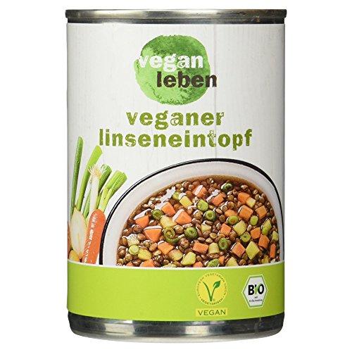 vegan leben Veganer Bio Linsentopf, 400 g
