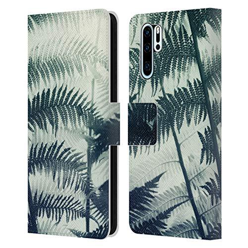 Head Case Designs Licenciado Oficialmente Dorit Fuhg Fern Plants Carcasa de Cuero Tipo Libro Compatible con Huawei P30 Pro