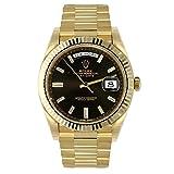 ساعة رولكس أويستر بربتشوال الأوتوماتيكية من الذهب الأصفر عيار 18 قيراطًا الماسية للرجال 228238BKDP