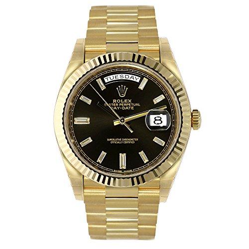 Rolex Oyster Perpetual 18K Yellow Gold Diamond Men's Automatic President Watch 228238BKDP