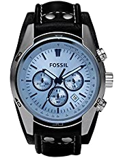 Fossil Herren Chronograph Quarz Uhr mit Leder Armband