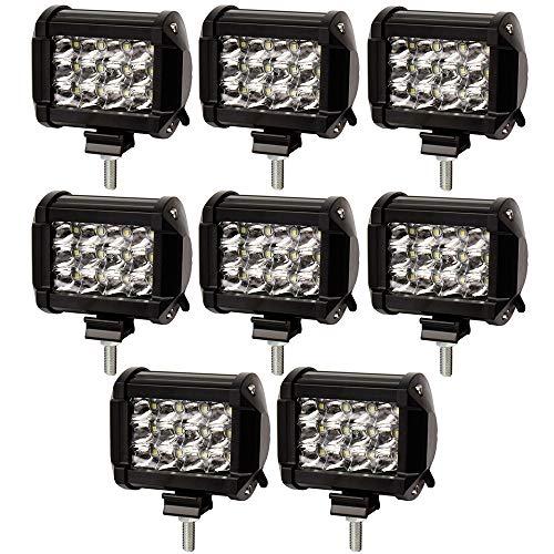 FENRIR 288W LED Work Light Bar Waterproof Spotlight Pods Spot Flood Combo Beam Fog Lights For Off-Road Car SUV Jeep ATV UTV Boat Pickup Truck Tractor (805-0051X8pieces)
