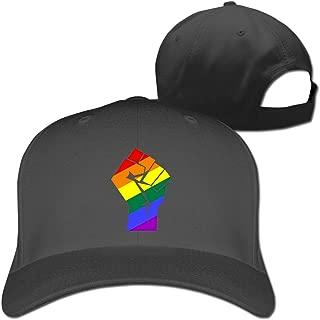 LGBT Pride Rainbow Flag Fist Unisex Adjustable Baseball Hat Sunbonnet Plain Hat Golf Snapback Cap