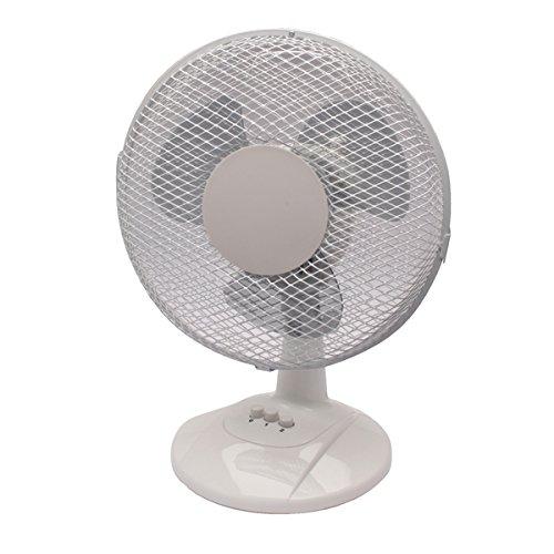 Q Connect KF00402 230mm/9 inch 2 Speed Desktop Fan , White
