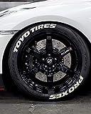 Toyo Tires Proxes - Pegatinas permanentes para neumáticos de 1 pulgada para ruedas de 14 a 22 pulgadas, 8 unidades