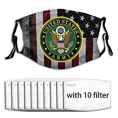 Army Veteran Masks Reusable Activated Carbon Filter Face Shield With 10 Filter