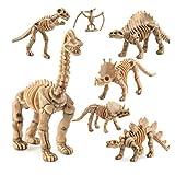 STOBOK Scheletro di Dinosauro fossile Scheletro Ossa, 24 Pezzi...