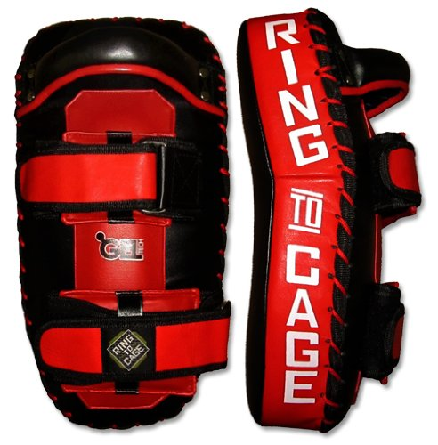 Ring to Cage GelTech Deluxe Thai Pad for Muay Thai, MMA, Kickboxing